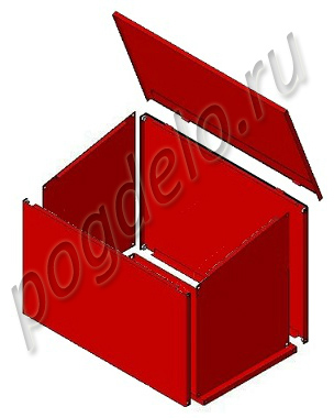 Ящик для песка  0.1 м3 разборный