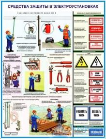 elektroust_protect_2_221x286 Комплект плакатов Средства защиты в электроустановках: купить в Москве | цена от 595 руб. в магазине «Техарсенал»