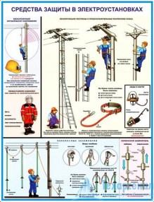 elektroust_protect_3_221x286 Комплект плакатов Средства защиты в электроустановках: купить в Москве | цена от 595 руб. в магазине «Техарсенал»