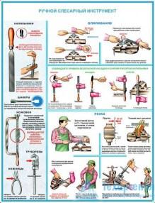 hand_fitters_tool_2_221x286 Комплект плакатов Ручной слесарный инструмент: купить в Москве | цена от 560 руб. в магазине «Техарсенал»