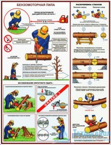 petrol_saw_3_221x286 Комплект плакатов Бензомоторная пила. Безопасность работ на лесосеке: купить в Москве   цена от 610 руб. в магазине «Техарсенал»