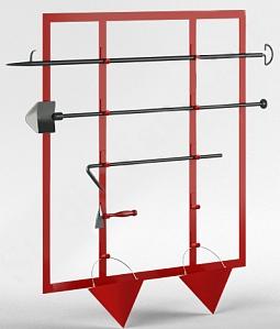 Стенд металлический открытого типа каркасный (без комплекта) 1200х1000