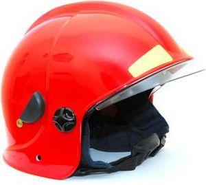 Шлем пожарного ШПМ (белый, красный)