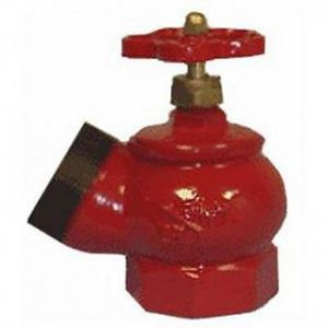 Вентиль пожарный КПЧ-65-1 (угол 125) м/ц (чугун)