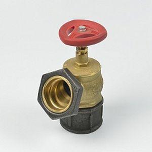 Вентиль пожарный КПЛ-50-2 (угол 125) ц/ц (латунь)